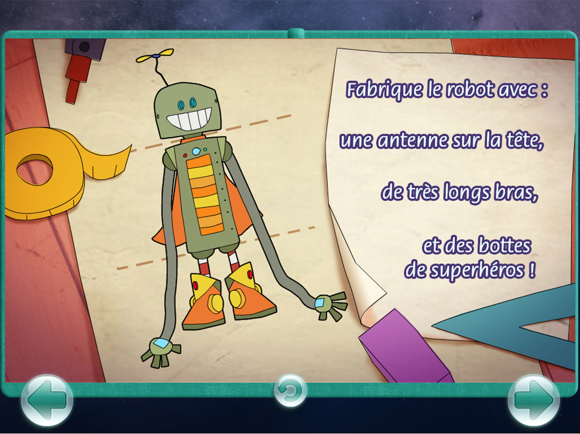 Capture Écran Jeu Frabication de Robot