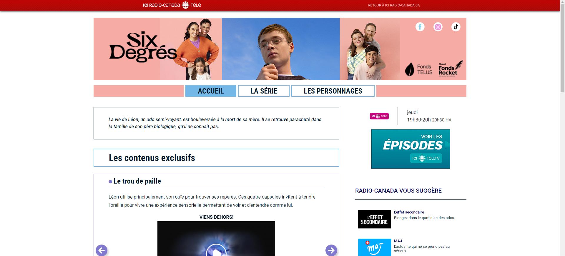 Six degrés site web 1