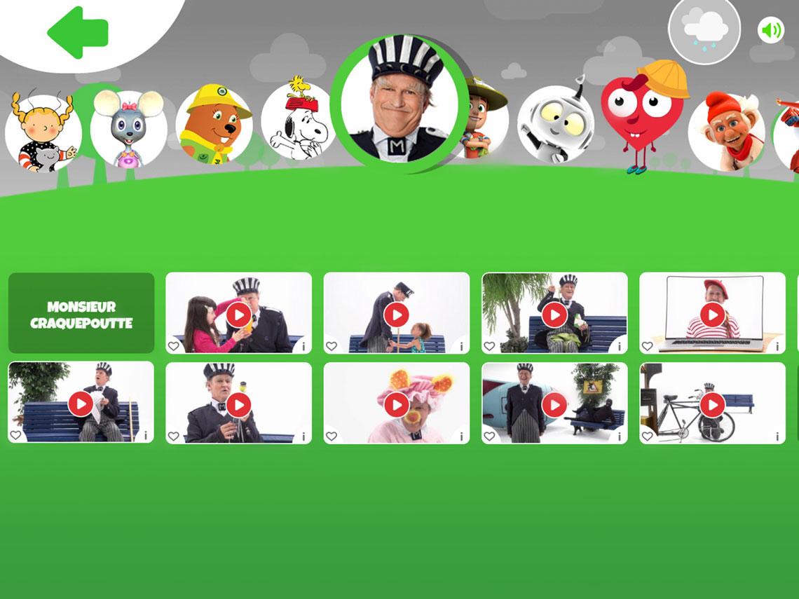 Capture écran menu série