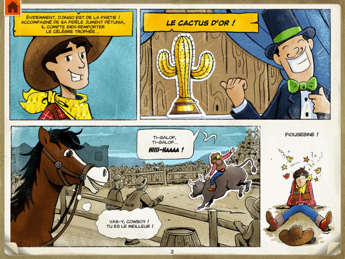 Capture Écran page de la bande dessinée