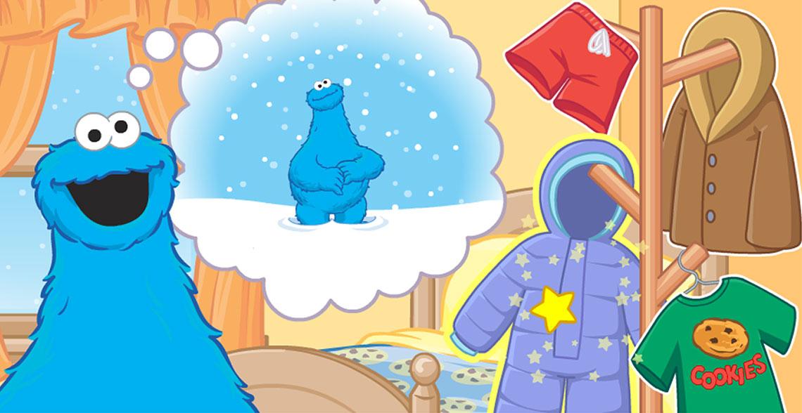 Capture Écran Cookies Monster sélection vêtements