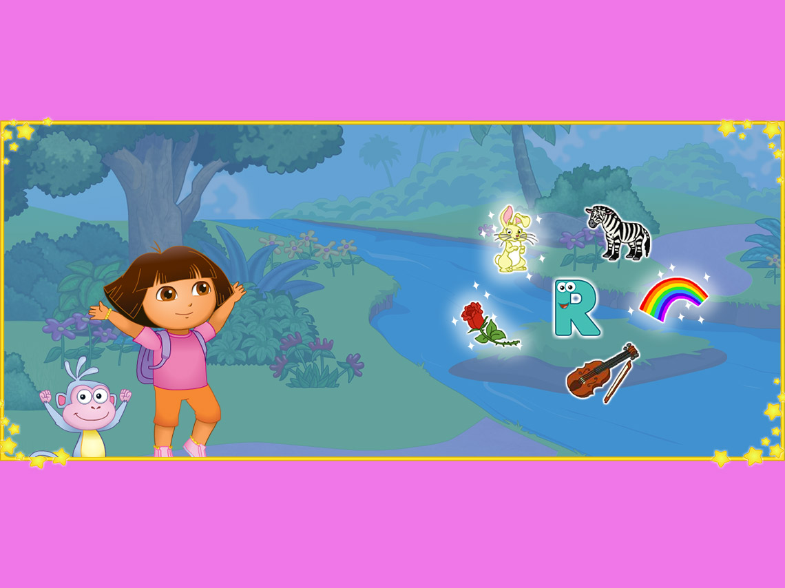 Cpature Écran Dora découvre la lettre R