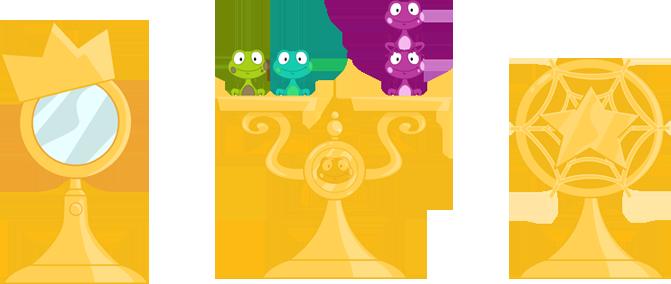 Trophé, Balance grenouille