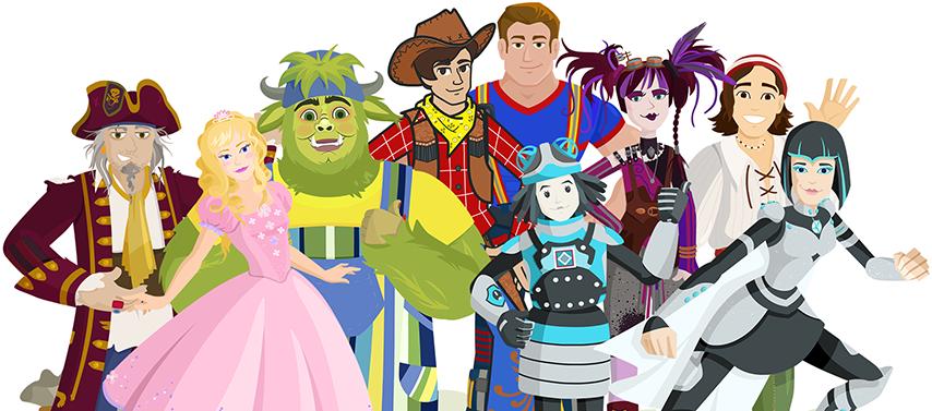 Tous les personnages de Salmigondis