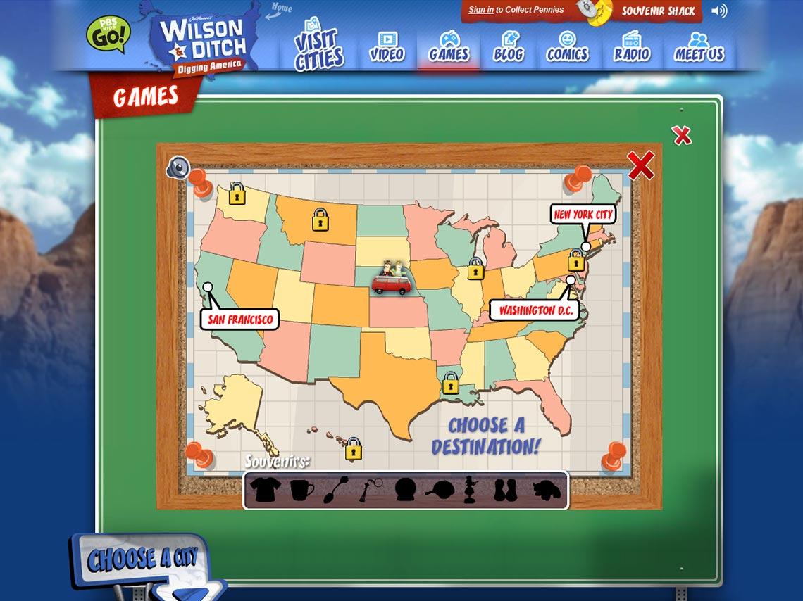 Capture écran Menu sélection de jeux